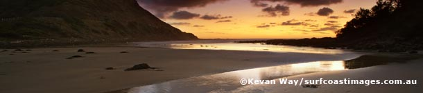 St Georges rivermouth at sunrise